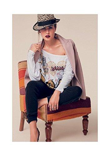 T-Shirt Manica 3/4 Denny Rose, ART 52DR61019, Taglia: L, Colore: Nero