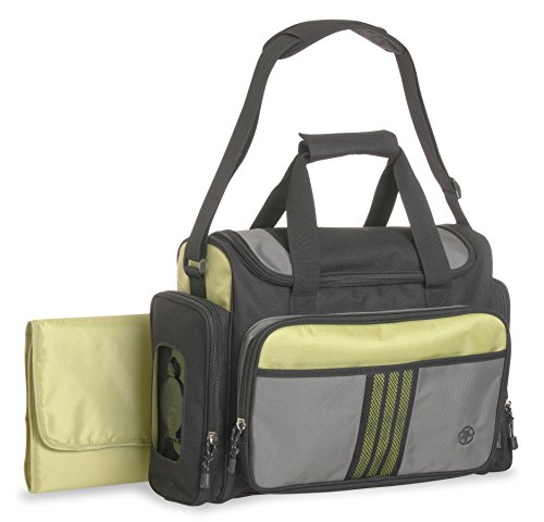 Jeep Perfect Pockets Sport Duffle Diaper Bag, Black/Green - 1