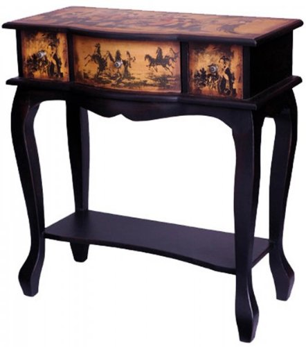 Ladies Tea Time Display Table (Antique Yellow/Black) (28