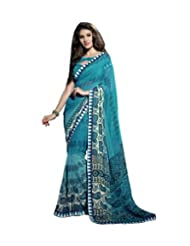 Triveni Paisley Printed Lace Bordered Fancy Saree 62005a