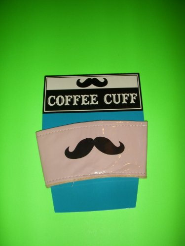 Kole HA284 Vinyl Mustache Coffee Cuff, Regular