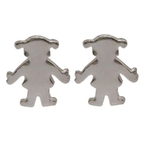 Handmade 925 Sterling Silver Girls Studs Earrings - New Mum - FREE Delivery in UK Gift Wrapped Gifts