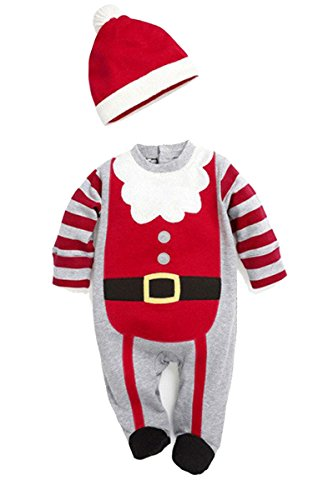 FINEJO Christmas Baby Rompers Costumes Children Wear Baby Clothes Long Sleeve Spring