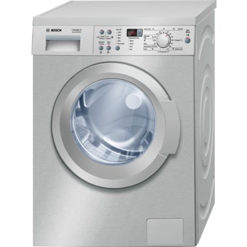 Bosch WAQ2836SGB 8kg 1400 Spin Freestanding Washing Machine In Silver-inox Stainless Steel