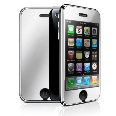 3Pack Durable Mirror Reusable LCD Screen Protector for Apple iPhone 3G 3GS