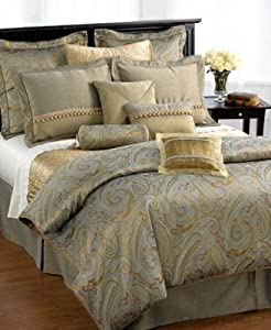 Amazon Com Waterford Quot Farrell Quot Silver Gold Comforter