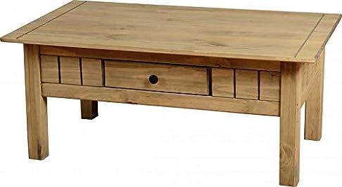 Panama tavolino con 1cassetti, legno di quercia massiccio rustico salotto