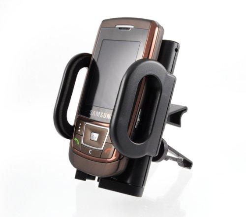 KFZ Handy Halterung für den Lüftungsschlitz Ihres Autos / Stütze / Halter für alle Handy-Modelle, perfekt für iPhone 3G & 3GS oder iPhone 4, iPhone 5 5C 5S, Samsung Galaxy S4/S2/S3, Nokia, HTC Desire HD, Sony Ericsson Xperia, RIM Blackberry Torch 9800 und viele mehr, Marke Incutex
