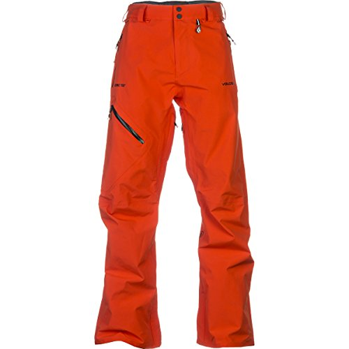 Volcom L Gore-Tex Snowboard Pants Orange Mens Sz L