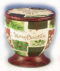 Christmas Traditions WoodWick Gallerie Decorative Tin - 7.5 oz - Scented Candle