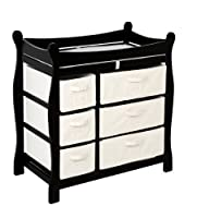 Badger Basket Baby Changing Table with Six Baskets from Badger Basket Company