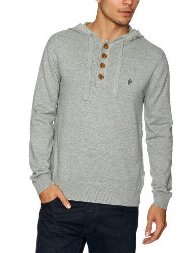 french-connection-mens-auderly-cotton-hoody-sweater-grey-mel-darkest-blue-small