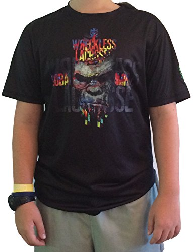 Shirt Black Lax Moisture Wicking Gorilla Daredevil Youth (large)