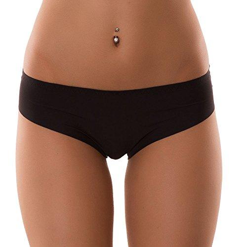 Toocool - Slip donna intimo liscio basic no segni culotte taglio vivo lingerie nuovo F6100[nero,S/M]