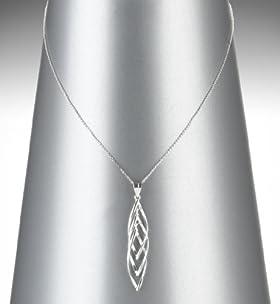 Sterling Silver Spun Twist Pendant Necklace