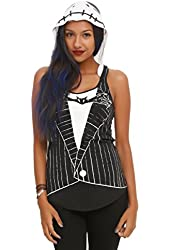The Nightmare Before Christmas Jack Skellington Girls Hooded Tank Top
