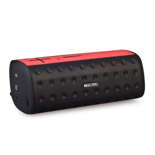 Mocreo® Waterproof Portable Wireless Bluetooth Speaker Indoor/Outdoors Ultra Mini W/ Dual Speakers / Rechargable Built-In Battery / Tf Card Supported For Iphone,Ipod,Samsung Galaxy S3/S4/S5 And Other Bluetooth Devices,Mp3 Players - Mosound Bar (Red)