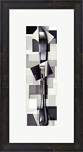 Knife By Pep Ventosa Framed Art Print Wall Picture, Espresso Brown Frame With Hanging Cleat, 11 X 21 Inches