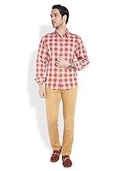 ColorPlus Dark Red Shirts ( 8907150437545_CMSA25097-R6_00L_Dark Red)