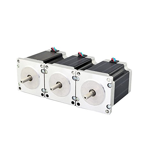 3PCS Nema 23 CNC Stepper Motor 2.8A 269oz.in 76mm Bipolar for Hobby CNC Kit by OSM Technology Co.,Ltd.