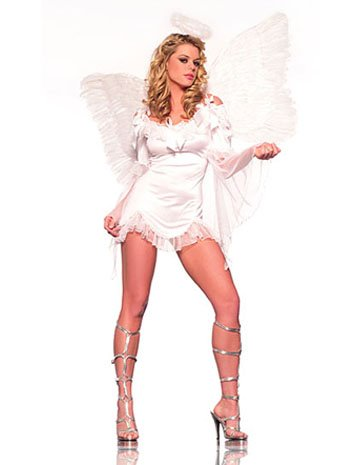 Sexy Adult French Angel Costume - SMALL/MEDIUM
