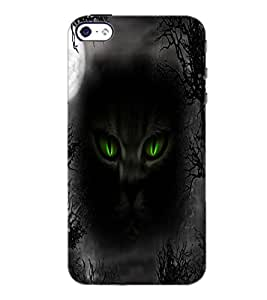 PrintDhaba Cat Eyes D-4005 Back Case Cover for APPLE IPHONE 4S (Multi-Coloured)