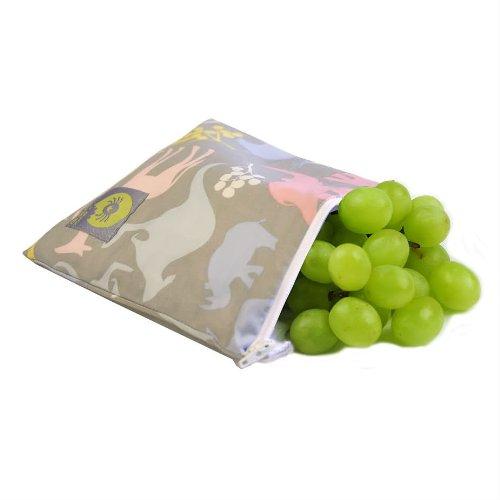 Itzy Ritzy Reusable Snack Bag, Urban Jungle Pink