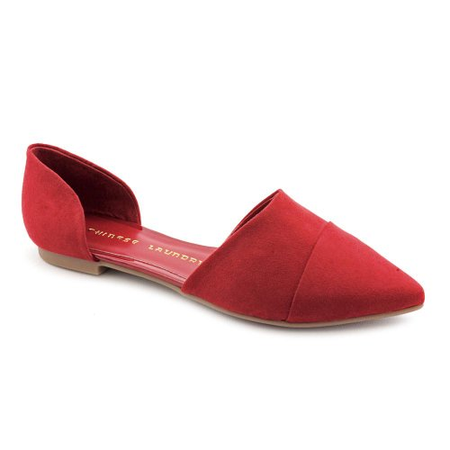 Chinese Laundry Easy Does It Flats Shoes Red Womens UK 3.5