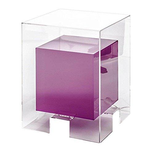 Tomasucci Space Pouff/Tavolino Luminoso, Metacrilato, Trasparente