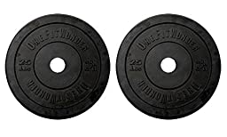 25lb Black Bumper Plate Pair by OneFitWonder - Weightlifting & Strength Training Equipment