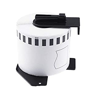 MarkDomain 6 Rolls Compatible with Brother DK-2205 White Continuous Tape Labels 2.4in x 100ft (62mm x 30.4m) with One Refillable Cartridge for QL-500 QL-570 QL-700 QL-710W QL-720NW QL-1060N Printer (Color: 6 Roll (62mm X 30.48m), Tamaño: DK-2205 6 rolls)