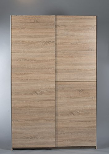 BEGA 70-040-68 Aladin Garderobenschrank, Dekor, 125 x 195 x 38 cm, weiß / braun günstig kaufen