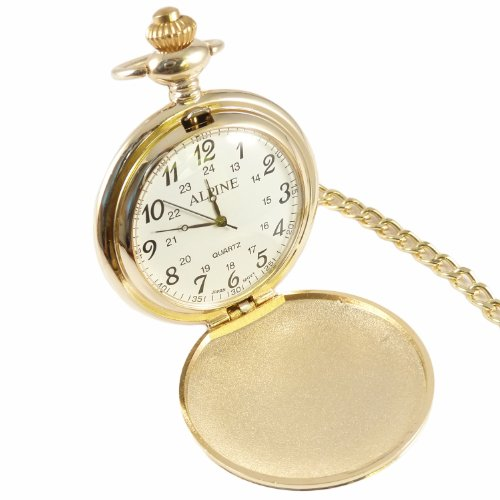 Personalised Engraved Gold Pocket Watch with Free Engraving. Ideal Gift.