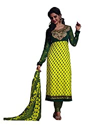 Rose Petals Un stitched Patch worked Semi Chiffon salwar suits for women
