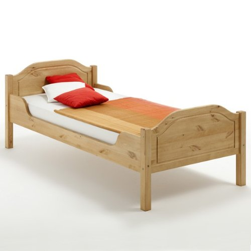 cadres de lit lit 90x200 cm en pin massif nordique. Black Bedroom Furniture Sets. Home Design Ideas
