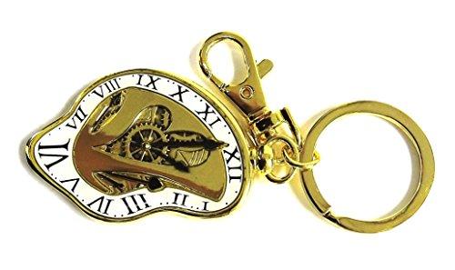 Alice attraverso lo specchio in peltro portachiavi: l' orologio