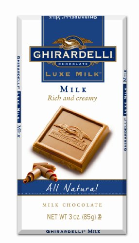 Ghirardelli Chocolate Luxe Milk Bar, Milk Chocolate, 3-Ounce Bars (Pack of 6)