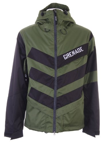 Grenade Chevron Snowboard Jacket Green Sz L