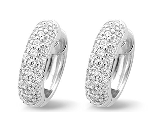Ti Sento Milano Rhodium Plated Sterling Silver Earrings with Cubic Zirconia Stones-7225ZI