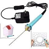 Foam Cutter Electric Styrofoam Cutting Tool Pen, Craft Hot Knife Foam Wire Cutter Set, 10CM Styrofoam Cutting Machine Knife with 15W Electronic Voltage Transformer Adaptor (Tamaño: 1 Pack)