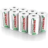 4 Cards: 8 pcs Tenergy Centura D size Low Self Discharge Rechargeable NiMH Batteries 8000mAh