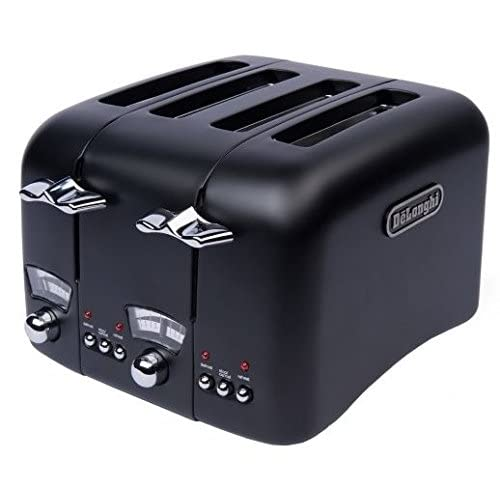 DeLonghi Argento Black 4-slice Wide Slot Toaster