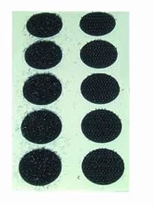 VELCRO Scratch auto-collants, auto-agrippants, 10 paires, noirs, 19mm