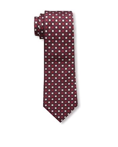 Valentino Men's Polka Dot Tie, Burgundy