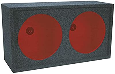 Dual Sealed Enclosure - Sealed, Dual Subwoofer Enclosure Box - Professional Audio Sound, Reduced Distortion, Lightweight & Durable - By GMI Pro by GMI Pro