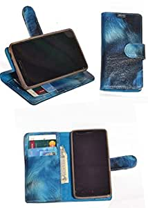 R&A Pu Leather Wallet Flip Case Cover With Card & ID Slots & Magnetic Closure For LG Optimus L4 II Dual E445