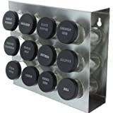 Prodyne M-912 Stainless Steel Spice Rack, 12-Bottle