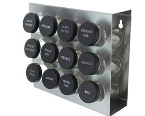 Prodyne M-912 Stainless Steel Spice Rack, 12-Bottle