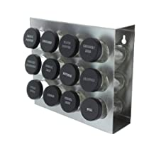 Prodyne M-912 Stainless Steel Spice Rack 12-Bottle