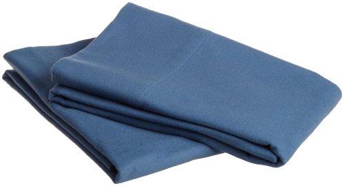 Pinzon Signature 190-Gram Cotton Velvet Flannel Standard Pillowcase, Set Of 2, Smokey Blue front-966499